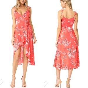 Minkpink Hotsprings Waterfall Wrap Dress high low